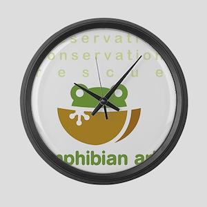 Preserve, conserve, rescue Large Wall Clock