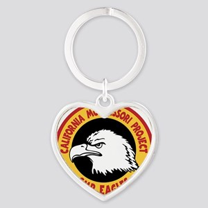 Eagles, color Heart Keychain