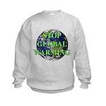 Stop Global Warming Kids Sweatshirt