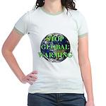 Stop Global Warming Jr. Ringer T-Shirt