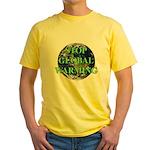 Stop Global Warming Yellow T-Shirt