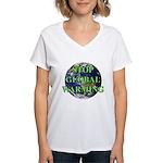 Stop Global Warming Women's V-Neck T-Shirt