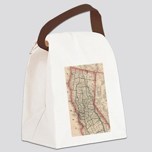 Vintage Map of Northern Californi Canvas Lunch Bag