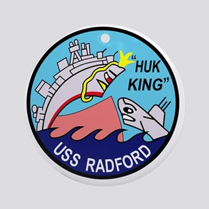 DD-446 USS Radford US NAVY Destroye Round Ornament