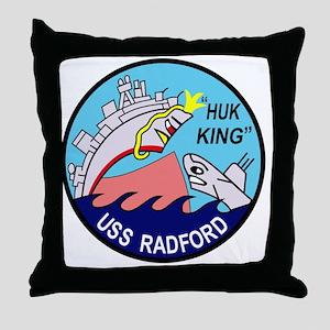 DD-446 USS Radford US NAVY Destroyer  Throw Pillow