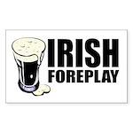 Irish Foreplay Beer Rectangle Sticker