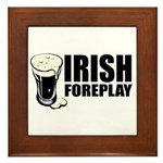 Irish Foreplay Beer Framed Tile