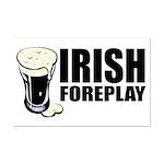 Irish Foreplay Beer Mini Poster Print
