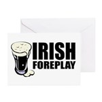 Irish Foreplay Beer Greeting Cards (Pk of 10)