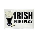 Irish Foreplay Beer Rectangle Magnet