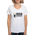 Irish Foreplay Beer Women's V-Neck T-Shirt