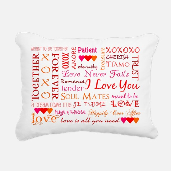 The Colors of Love Rectangular Canvas Pillow