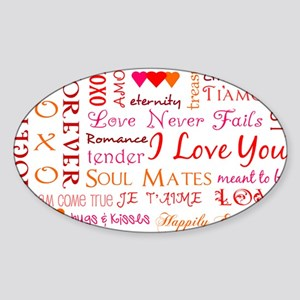 The Colors of Love Sticker (Oval)
