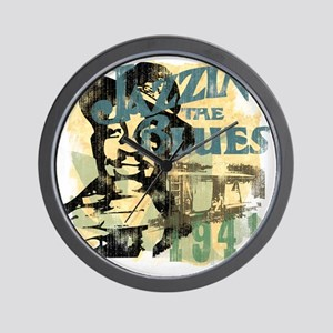 jazzin the blues master copy Wall Clock