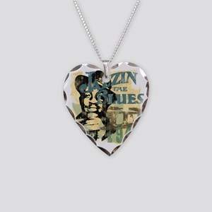 jazzin the blues master copy Necklace Heart Charm