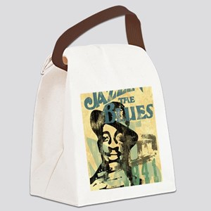 jazzin the blues framed panel pri Canvas Lunch Bag