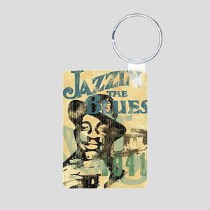 jazzin the blues framed pa Aluminum Photo Keychain