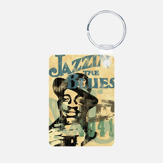 jazzin the blues framed pa Keychains
