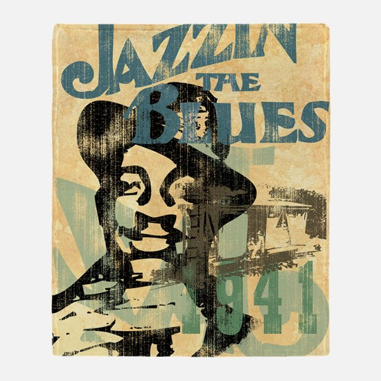 jazzin the blues framed panel print  Throw Blanket