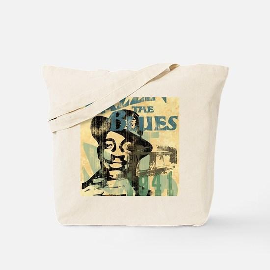 jazzin the blues framed panel print copy Tote Bag