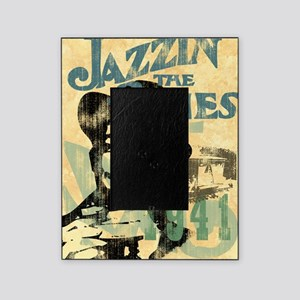 jazzin the blues framed panel print  Picture Frame