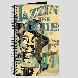 jazzin the blues framed panel print copy Journal