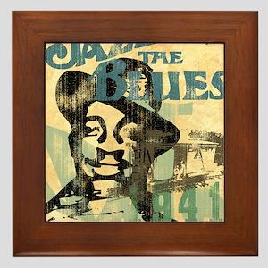jazzin the blues framed panel print co Framed Tile