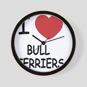 BULLTERRIERS Wall Clock
