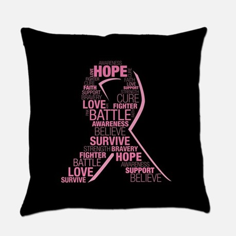 Breast Cancer Ribbon Collage
