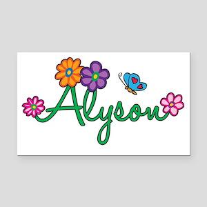 Alyson Rectangle Car Magnet