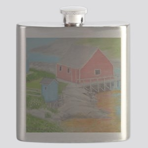 Peggys Cove Outhouse Flask