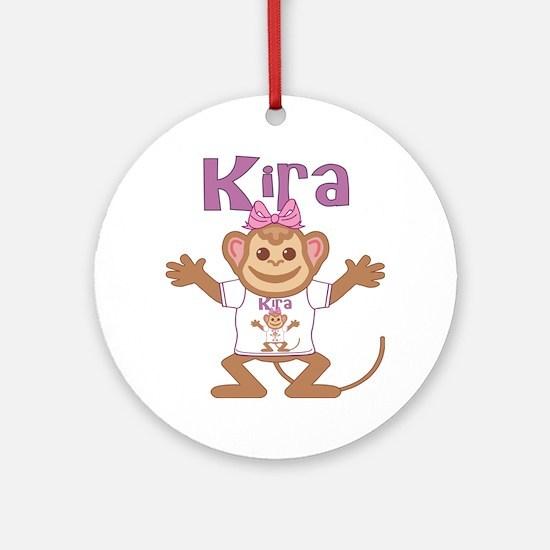 kira-g-monkey Round Ornament