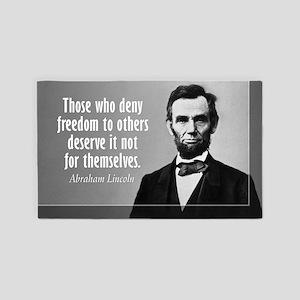Lincoln Quote Slavery 3'x5' Area Rug