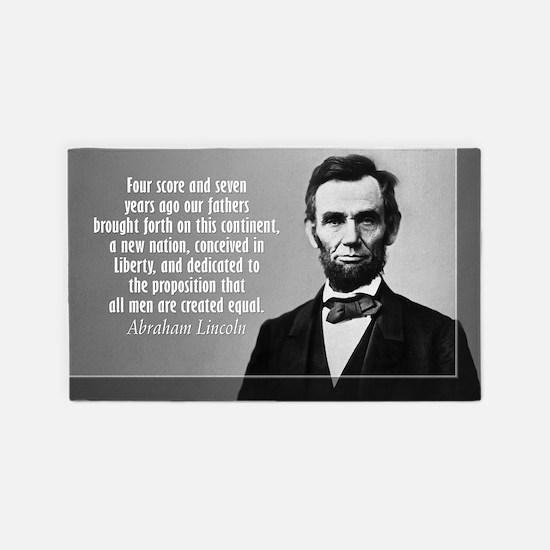 Lincoln Quote Gettysburg 3'x5' Area Rug