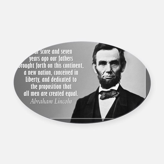 Lincoln Quote Gettysburg Oval Car Magnet
