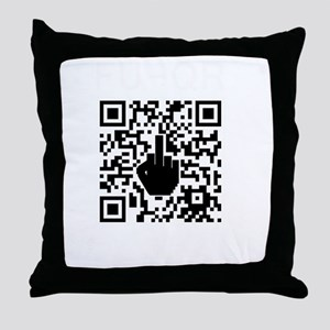 FUQR Black Shirt Design Throw Pillow