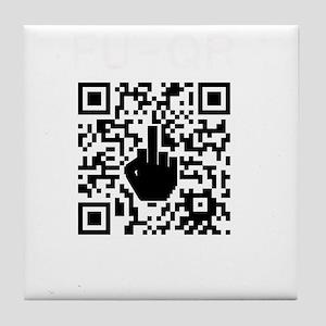 FUQR Black Shirt Design Tile Coaster