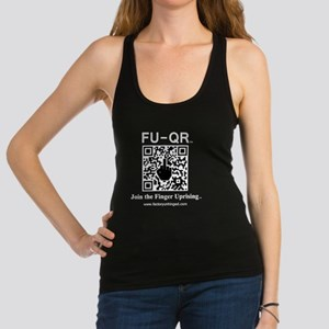 FUQR Black Shirt Design Racerback Tank Top