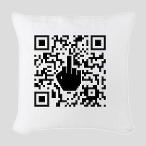 FUQR Black Shirt Design Woven Throw Pillow