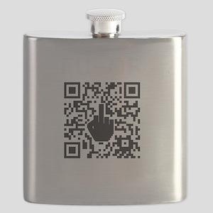 FUQR Black Shirt Design Flask