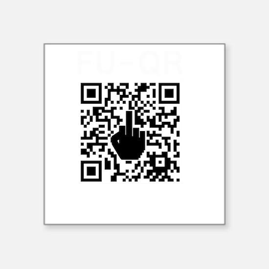 "FUQR Black Shirt Design Square Sticker 3"" x 3"""