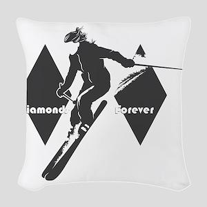 diamonds forever Woven Throw Pillow