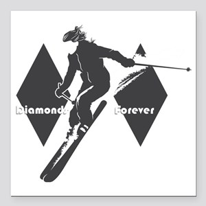 "diamonds forever Square Car Magnet 3"" x 3"""