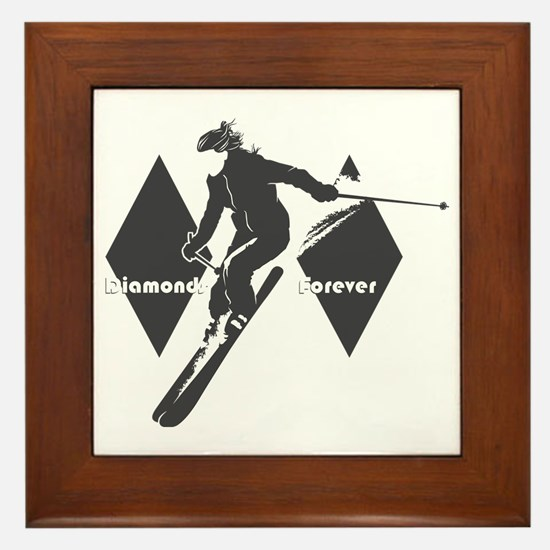 diamonds forever Framed Tile