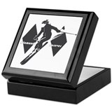 Snow ski Square Keepsake Boxes