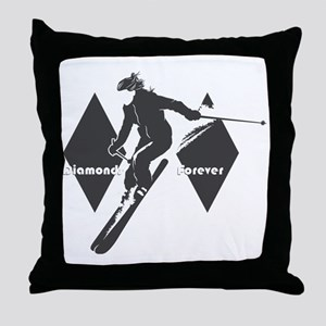 diamonds forever Throw Pillow