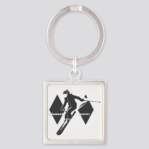 diamonds forever Square Keychain