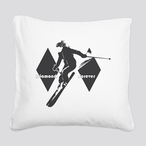 diamonds forever Square Canvas Pillow