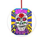Sugar Skull Round Ornament