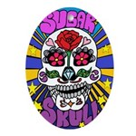 Sugar Skull Oval Ornament